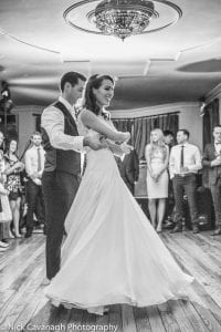 happy couple dancing captured by Nick Cavanagh Photography