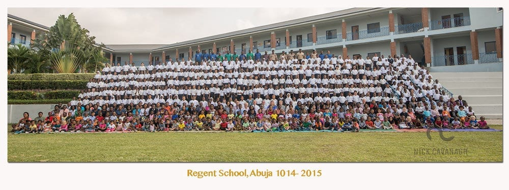 Schoolwide panorama. Enormous detail with a medium format camera.