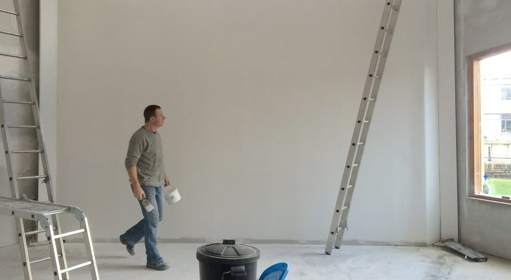 Painting the white wall